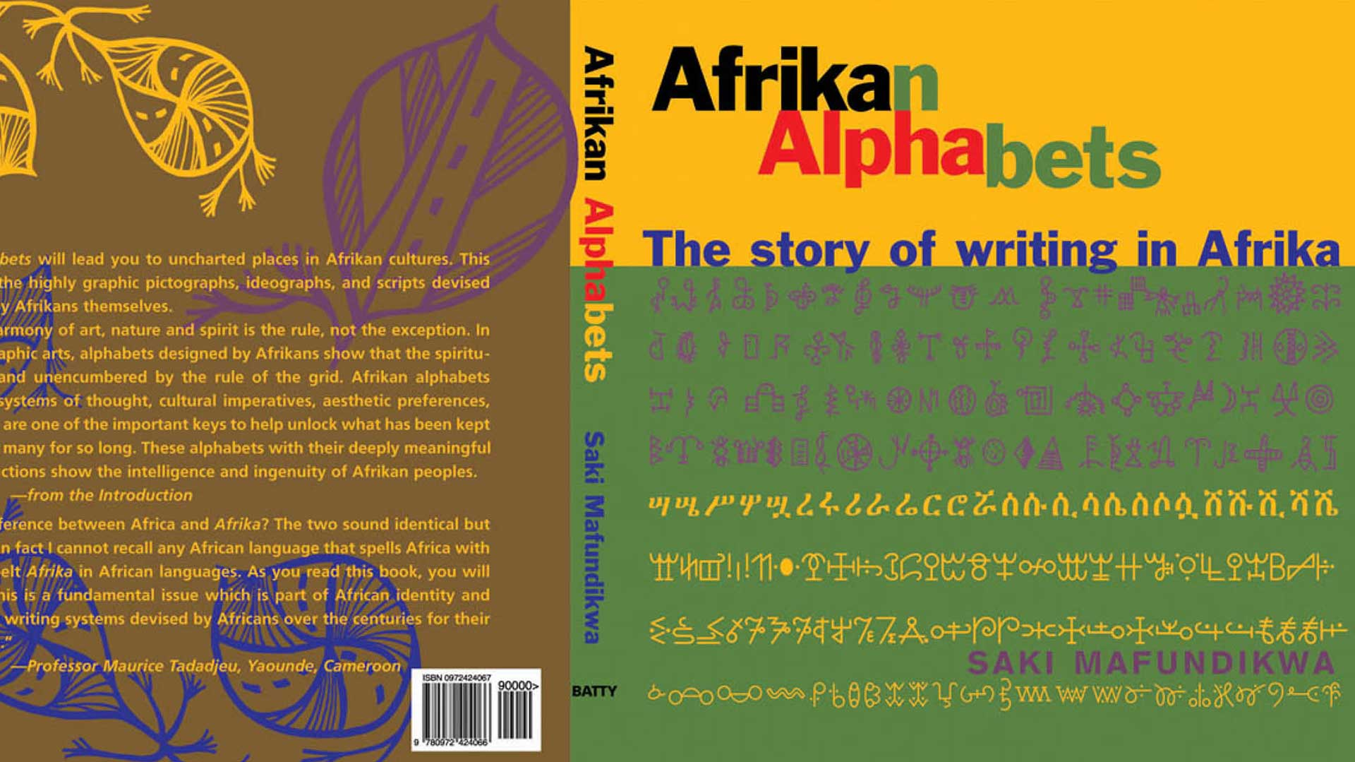 book cover for Afrikan Alphbets