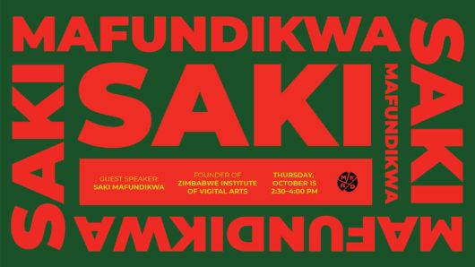 SAKI MAFUNDIKWA lecture poster
