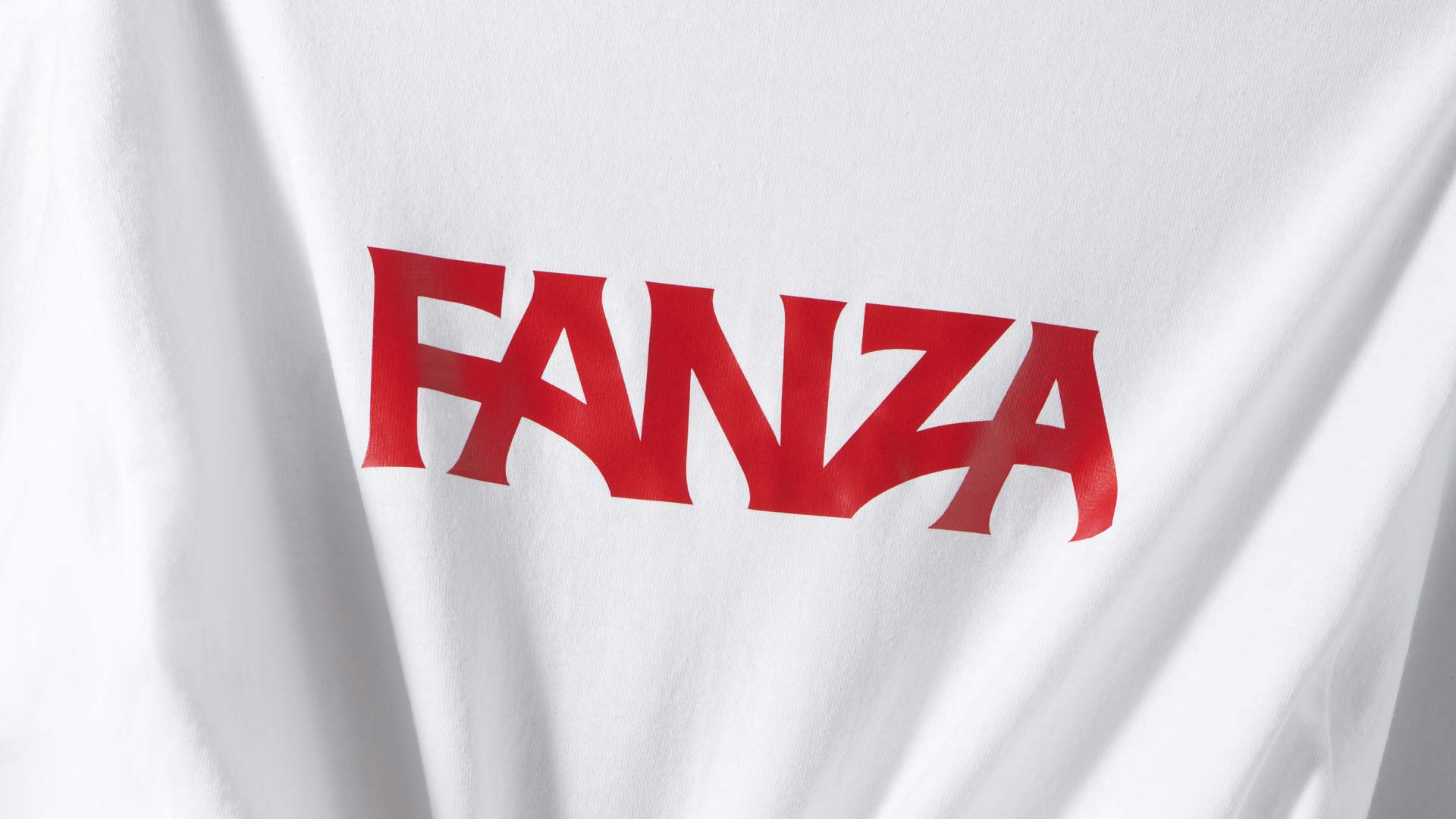 the letters Fanza in red letters