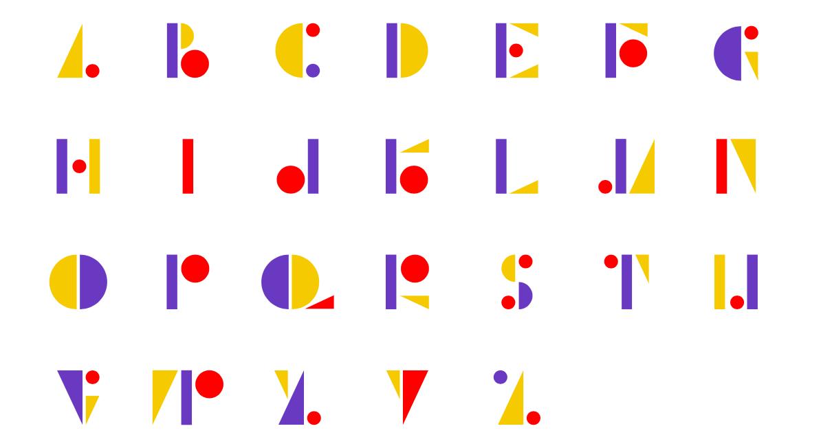sutnar typeface specimen layout