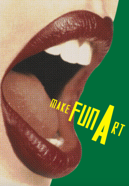 make fun art poster with sutnar project typeface