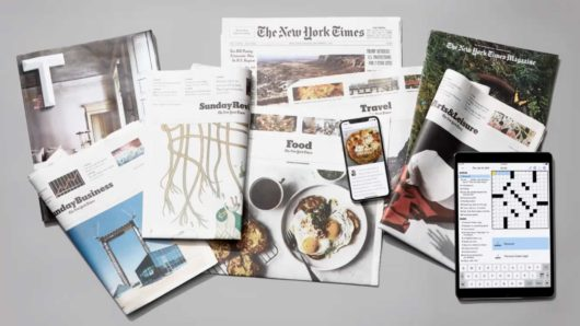 collection of magazines and newspapers from New York times