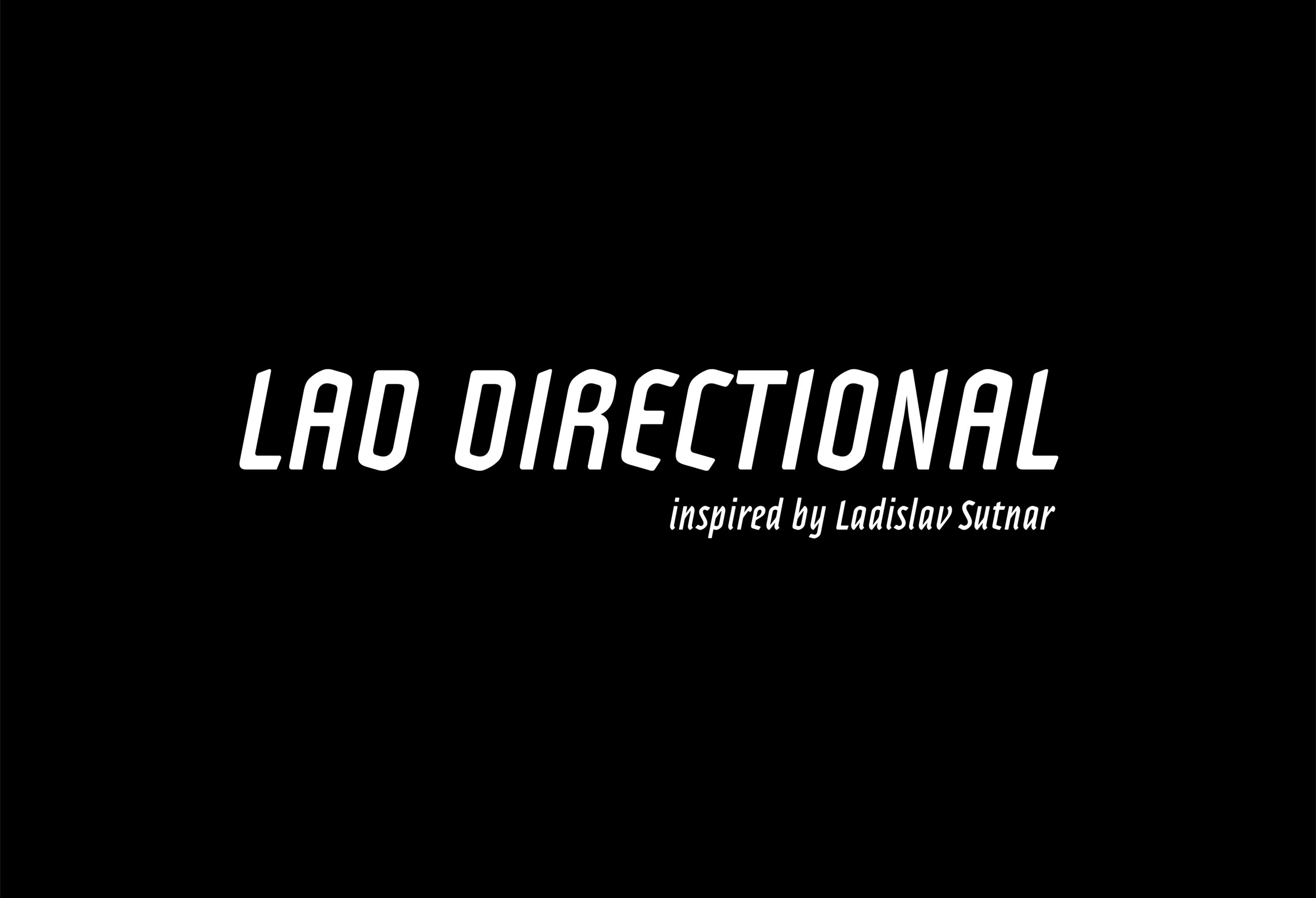lad directional inspired by sutnar