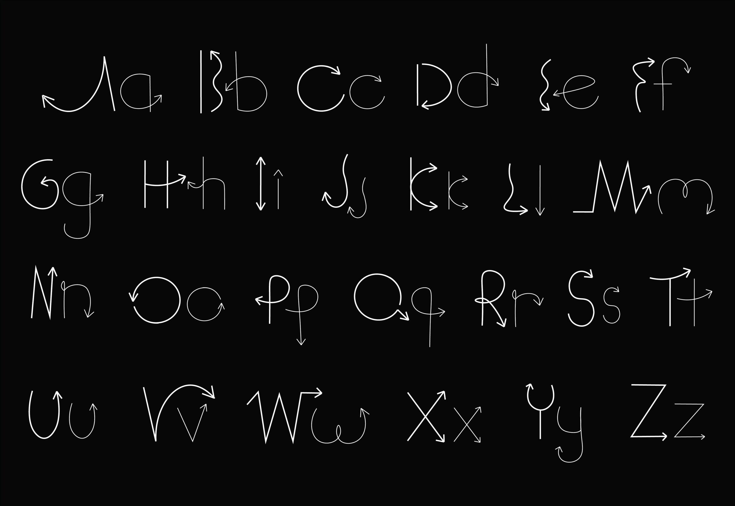 sutnar arrow typeface specimen