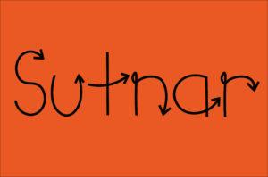 sutnar inspired arrow typeface