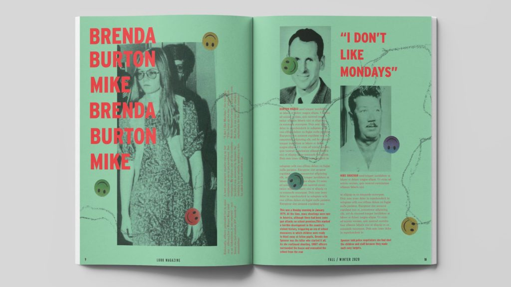 Lurk Magazine spreads by Julia Hummel