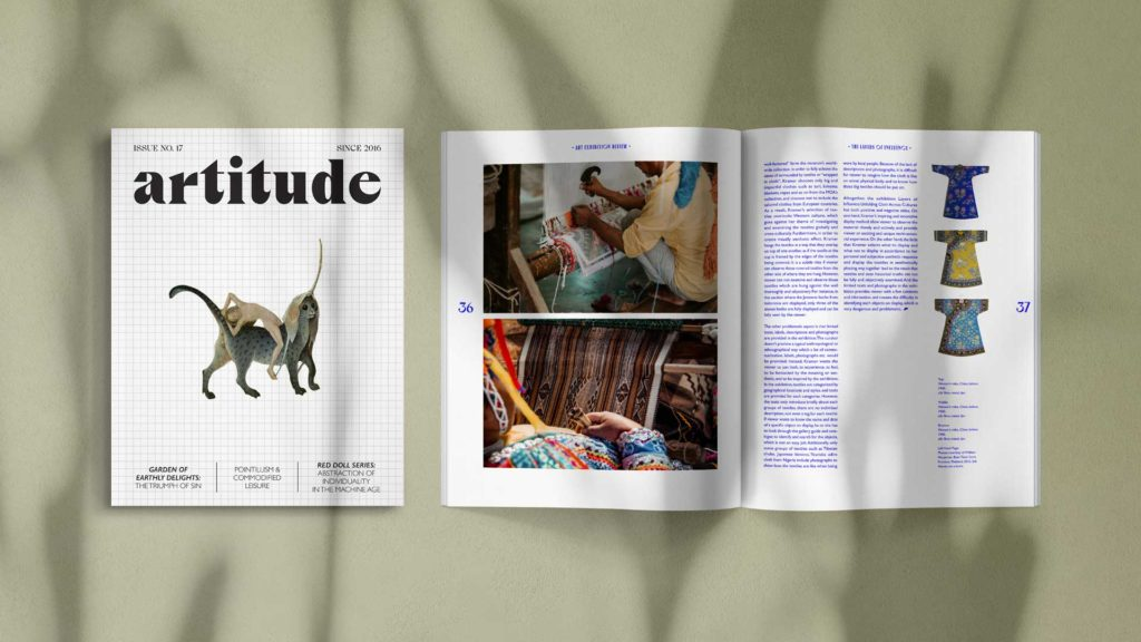 "Wei wei Wei Wei ""artitude"" magazine cover spread"