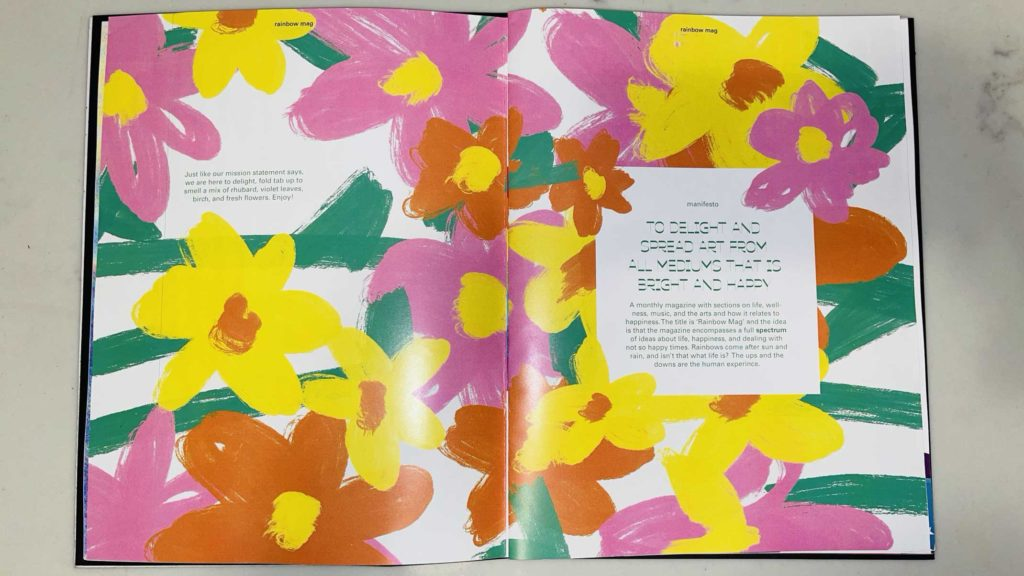 Emily Roemer - Rainbow Mag magazine spread with flowers