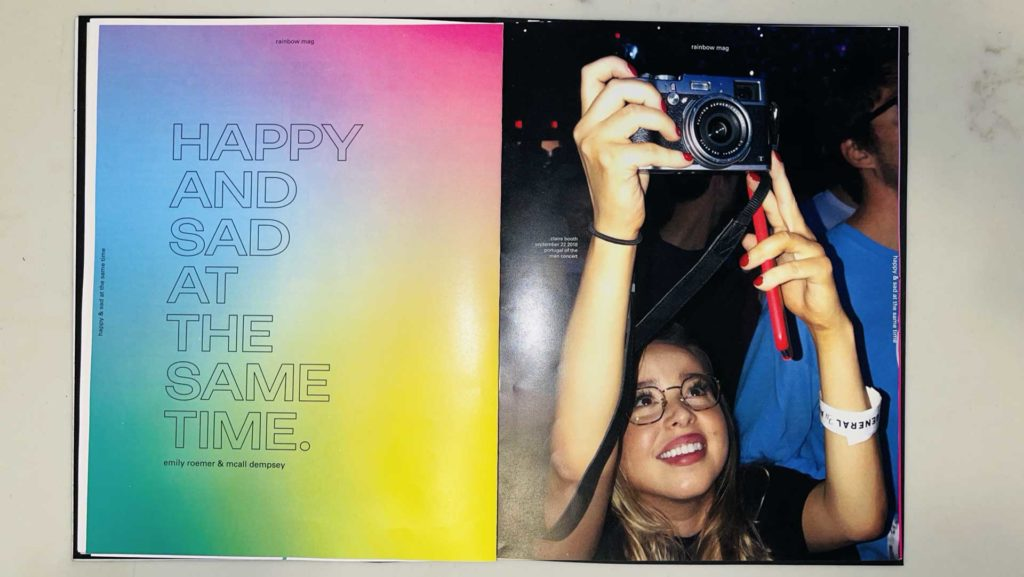 Emily Roemer - Rainbow Mag magazine spread with young woman taking photos