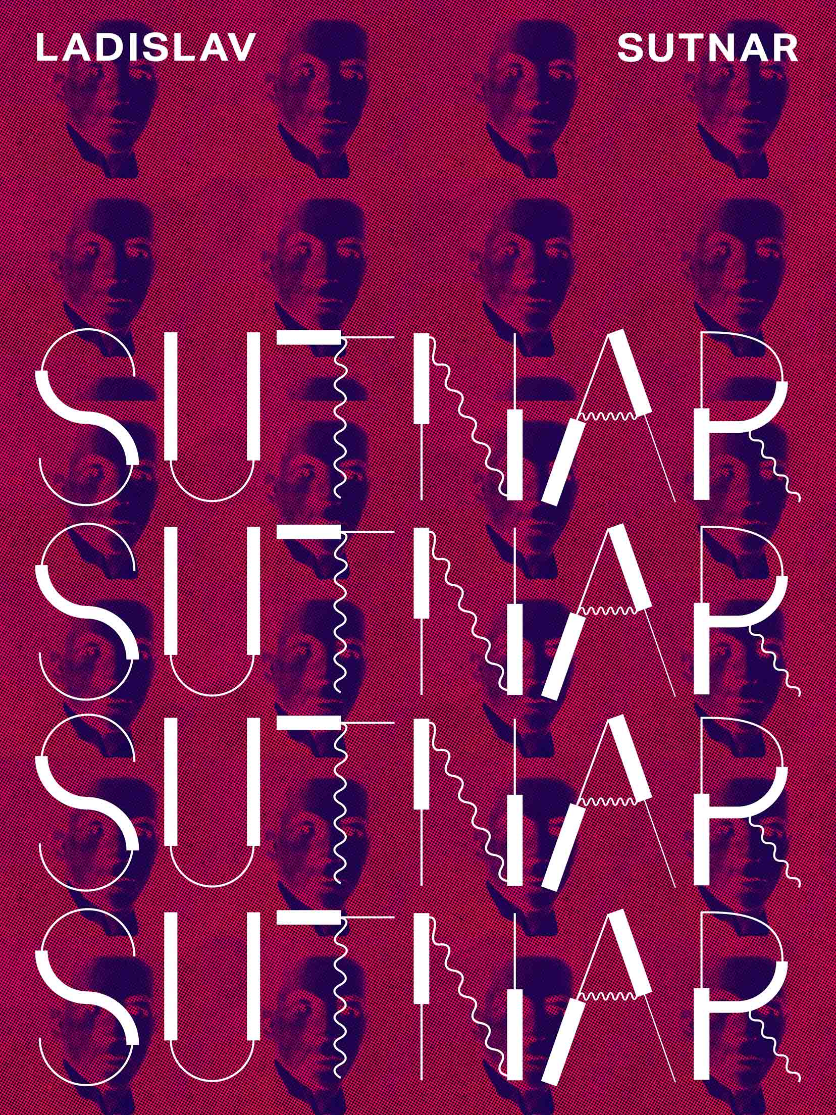 Sutnzra typeface on a poster