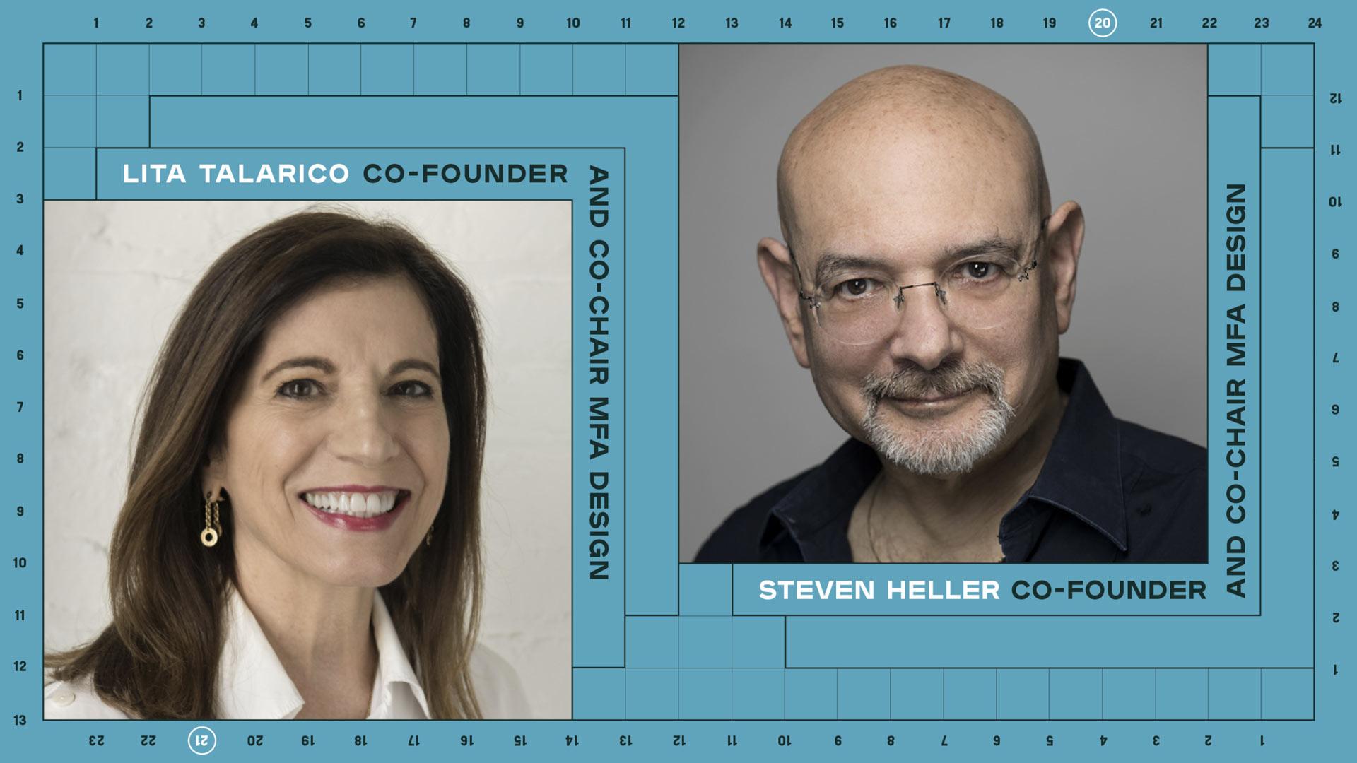 photos of Steven Heller & Lita Talarico