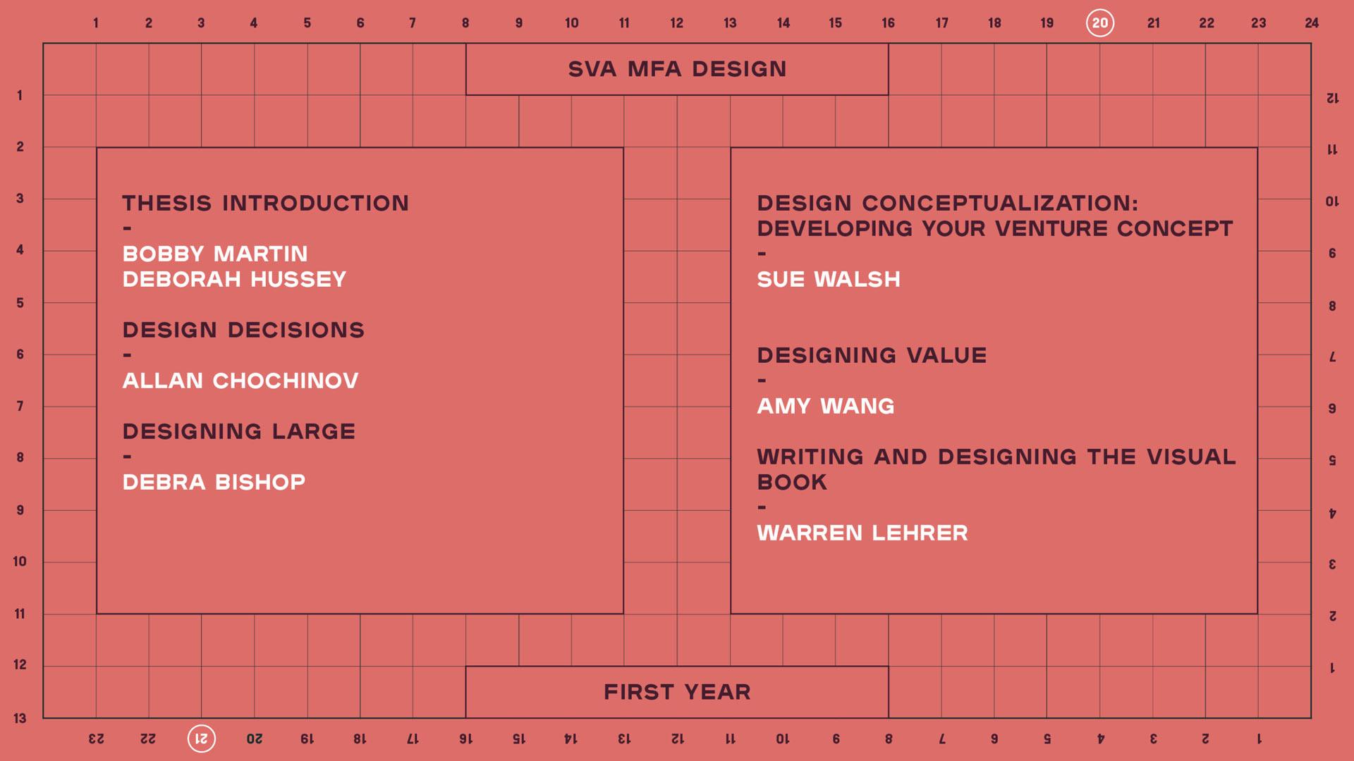 spring 2021 mfa design schedule