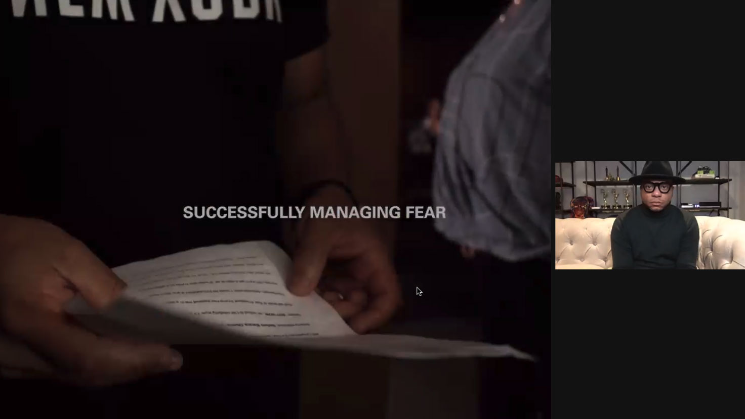 Douglas Davis successfully managing fear