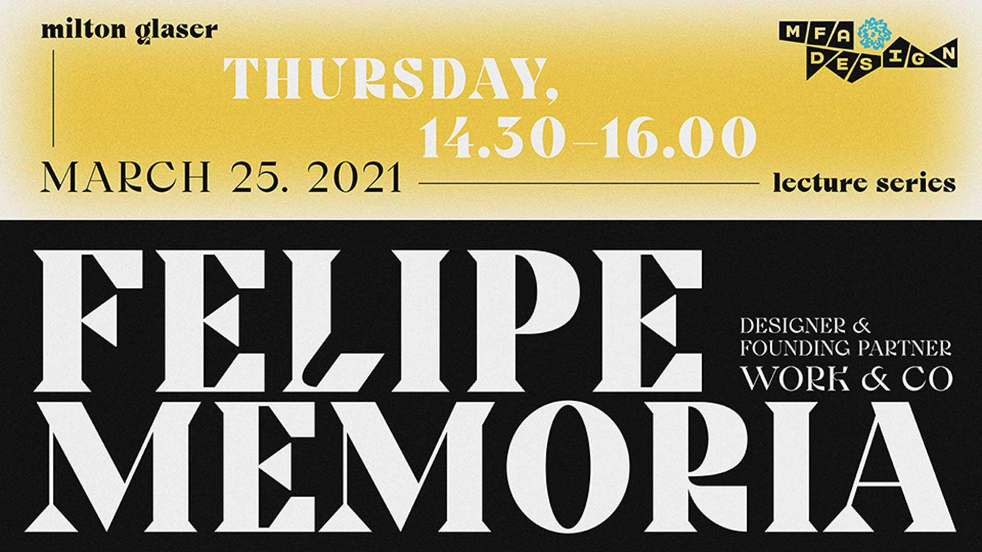Felipe Memoria guest lecture announcement graphic