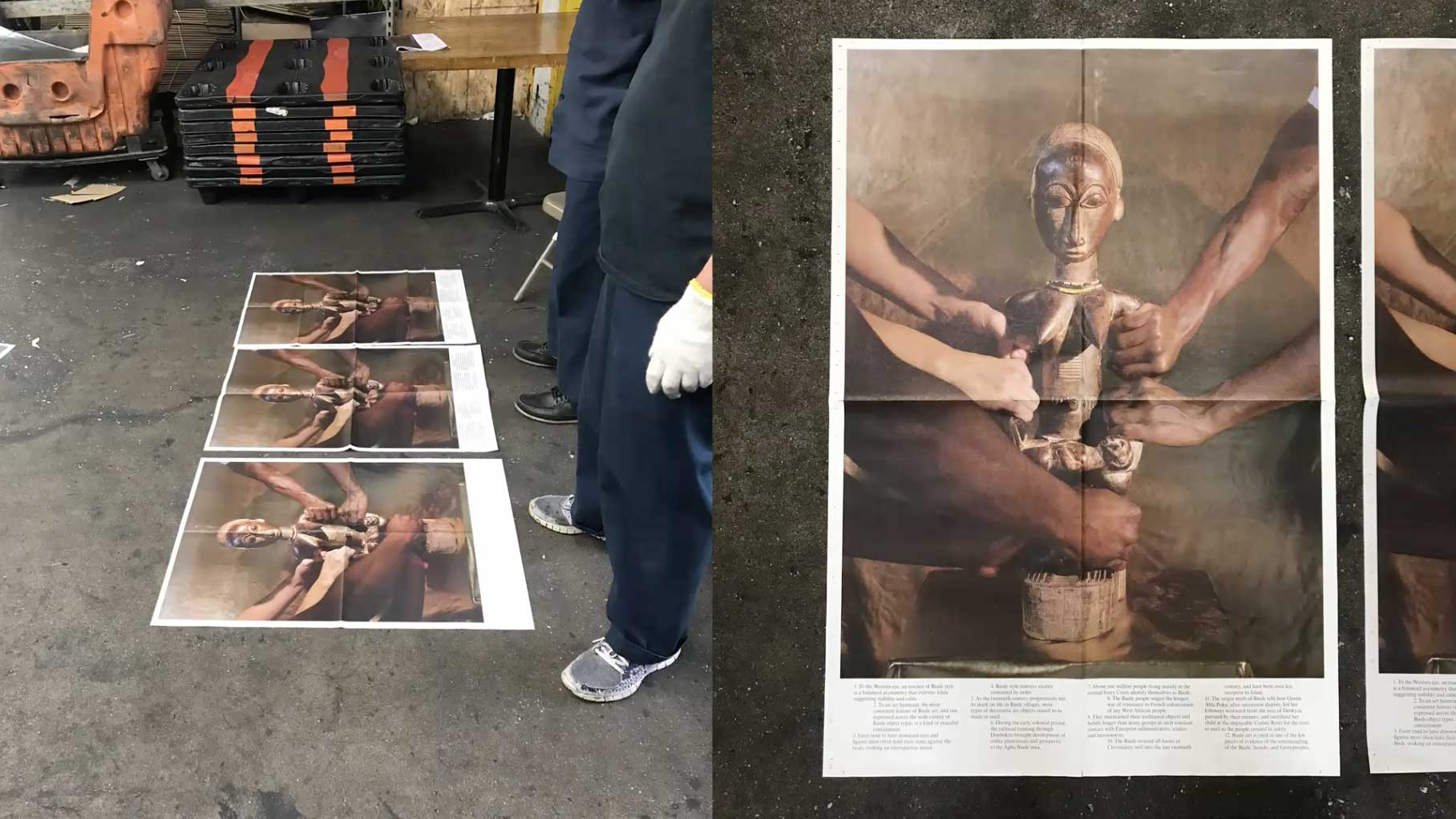 posters with photo of an African idol